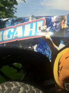 Jack Bauer picture on the side of a truck.