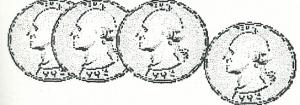 Four U.S. quarters