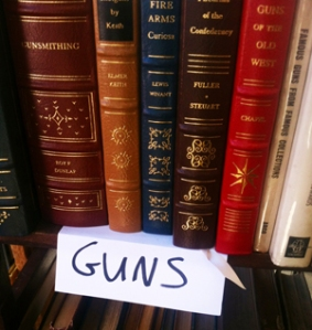 "The ""Guns"" section."