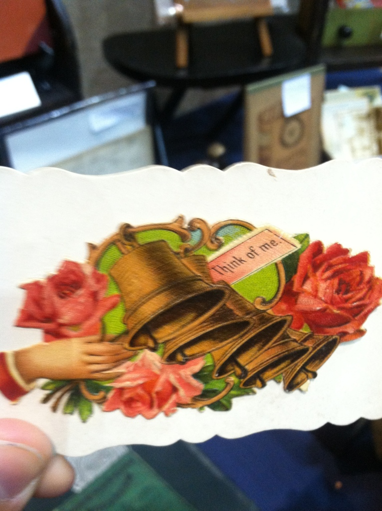 "Victorian calling card - ""Think of me"""