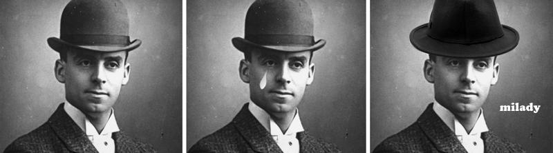 Victorian gentleman in fedora
