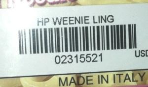 HP WEENIE LING
