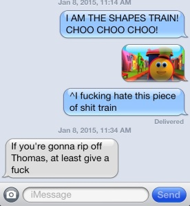 Shapes Train Text