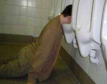 Guy vomiting