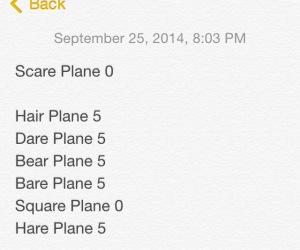 Scare Plane.