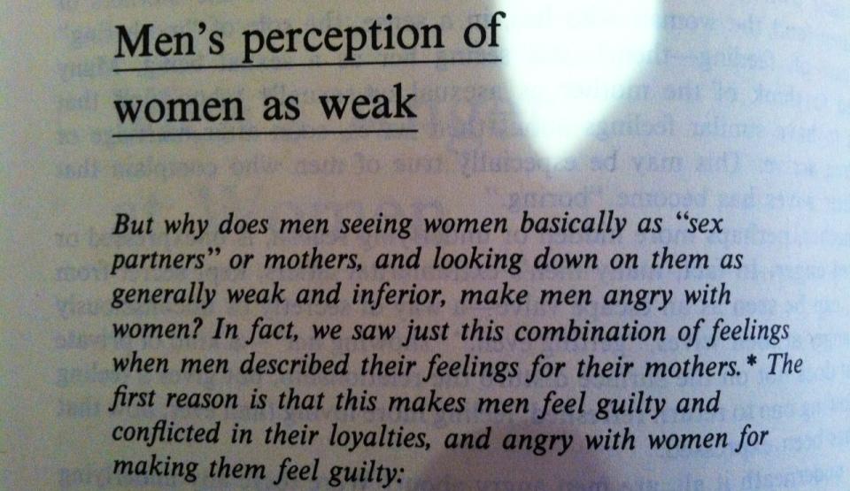 Men's perception of women as weak