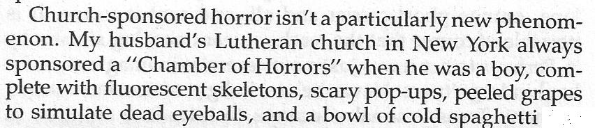 Church-sponsored horror
