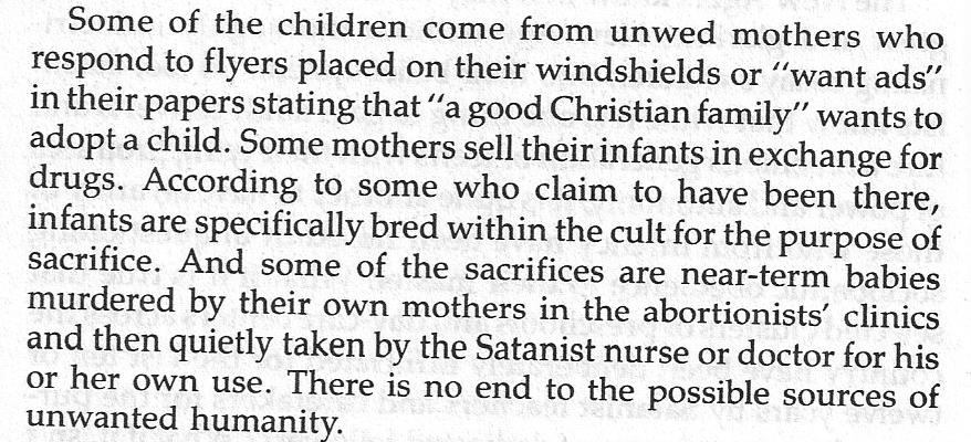 Sacrificial babies