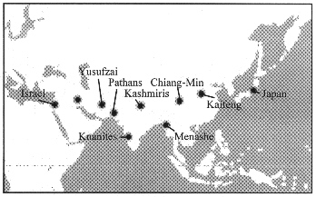Route from Israel to Japan