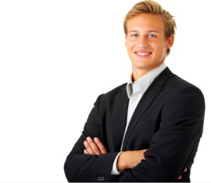 white businessman, stock photo