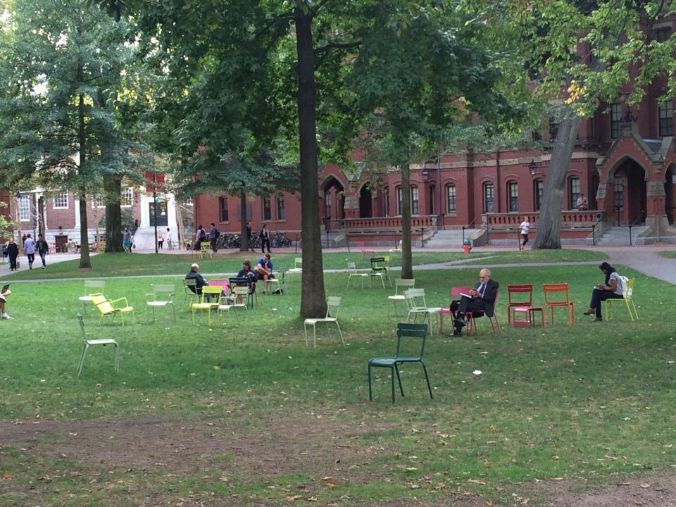 Harvard Yard, chairs