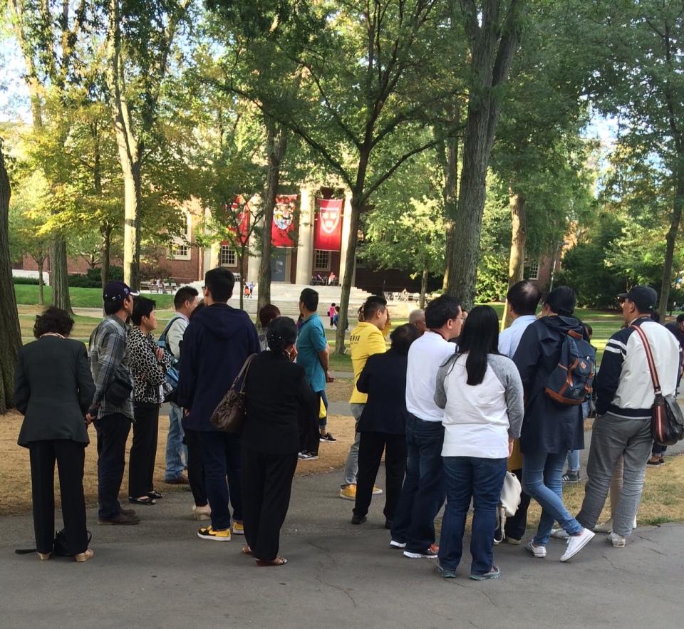 Chinese tour group, Harvard