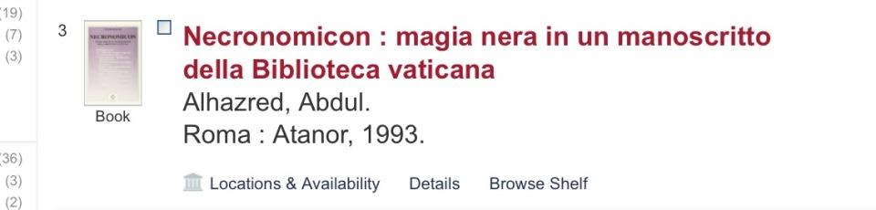 The Necronomicon, H.P. Lovecraft