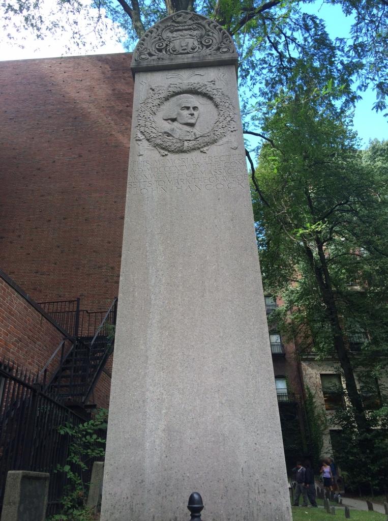 John Hancock's headstone