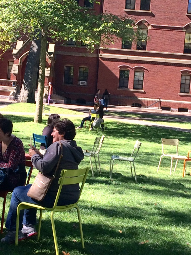 People don't take any candy from the bowl in Harvard Yard.