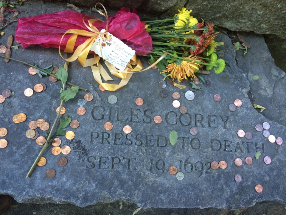 Giles Corey memorial, Salem
