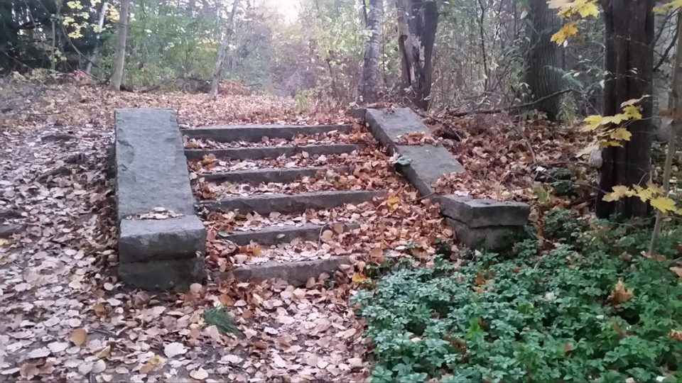 Stairway to the abandoned estate