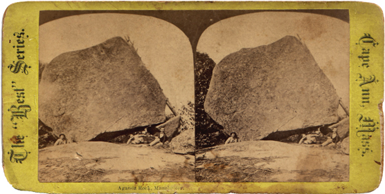 1870s stereoview, Little Agassiz Rock