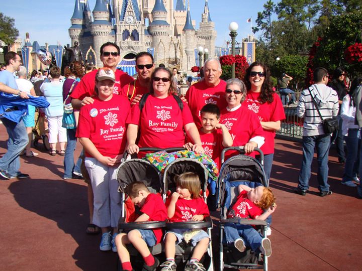 Disney World, Magic Kingdom, matching shirts