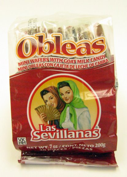 Obleas, wafers with goat milk candy