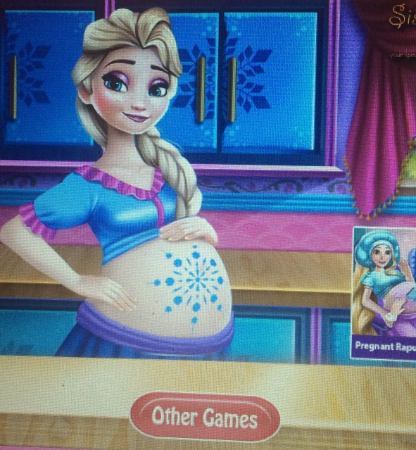 Elsa Pregnancy Check-up game