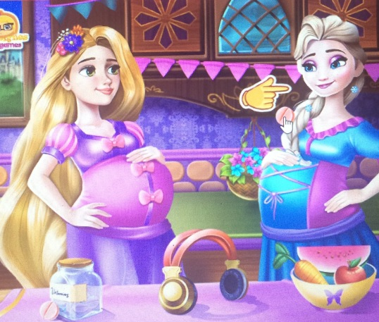 Elsa and Rapunzel Pregnant BFFs game