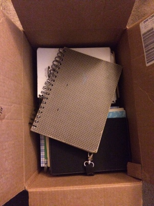 Box of teenage diaries
